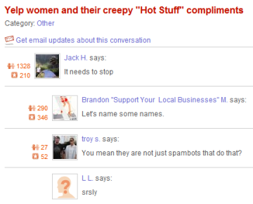 Creepy Yelp greetings